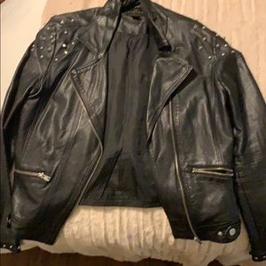 Spiked leather Timing jacket